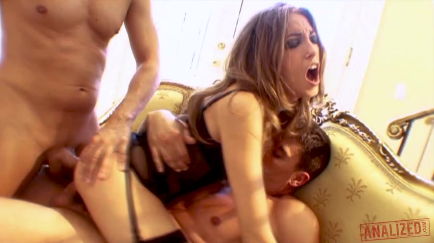 Jenna Haze Double Stuffed And Covered In Cum